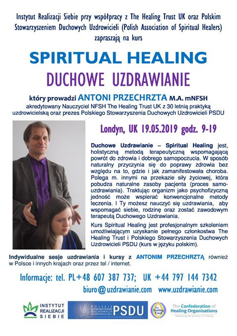 SpiritualHealing.AntoniPrzechrzta.Londyn.19.05.2019